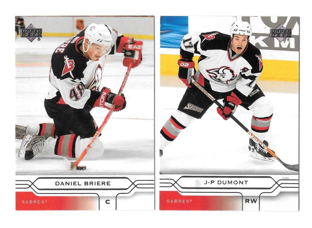 2004-05 Upper Deck Base (1-180) Hockey Team Set - Buffalo Sabres