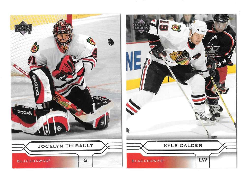 2004-05 Upper Deck Base (1-180) Hockey Team Set - Chicago Blackhawks