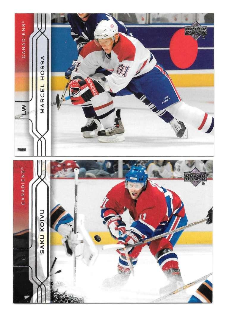 2004-05 Upper Deck Base (1-180) Hockey Team Set - Montreal Canadiens