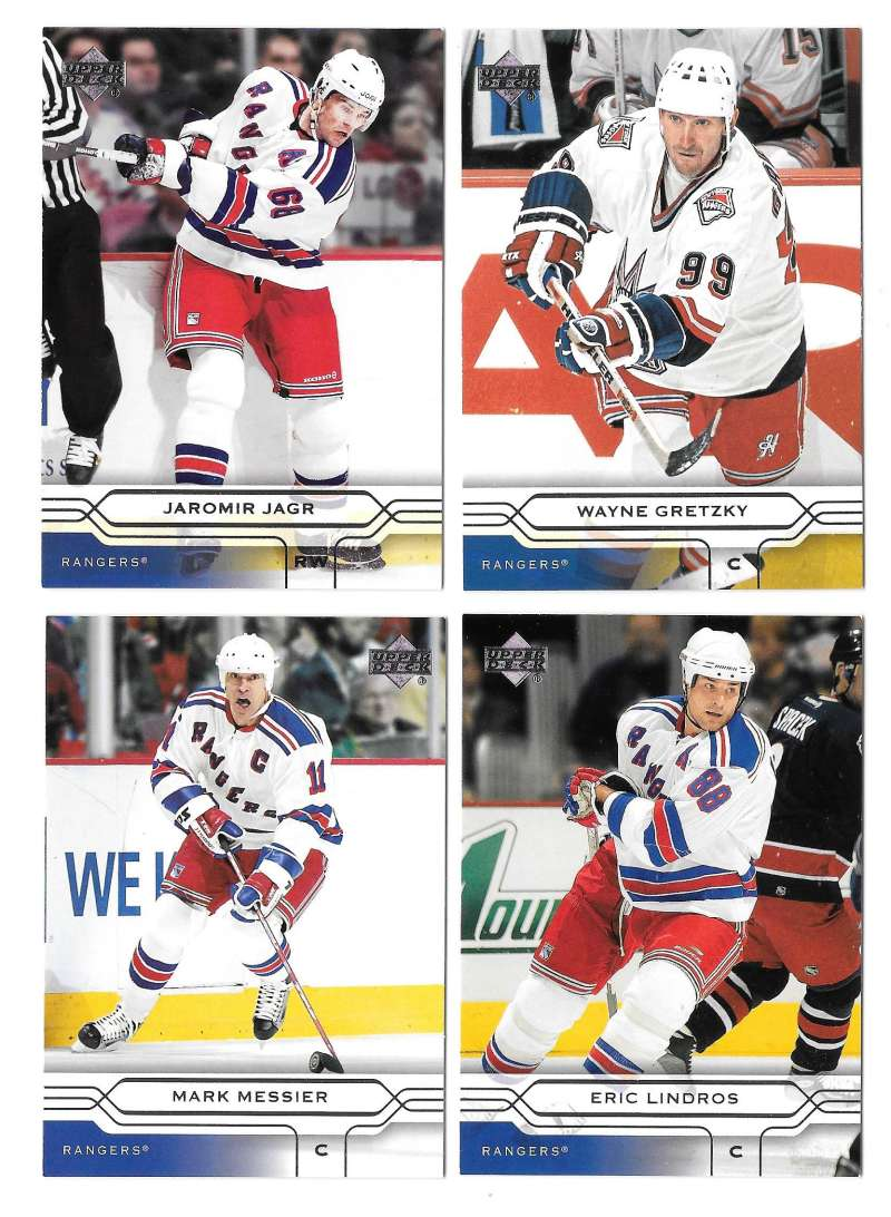 2004-05 Upper Deck Base (1-180) Hockey Team Set - New York Rangers