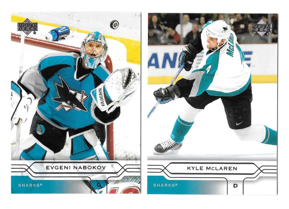 2004-05 Upper Deck Base (1-180) Hockey Team Set - San Jose Sharks