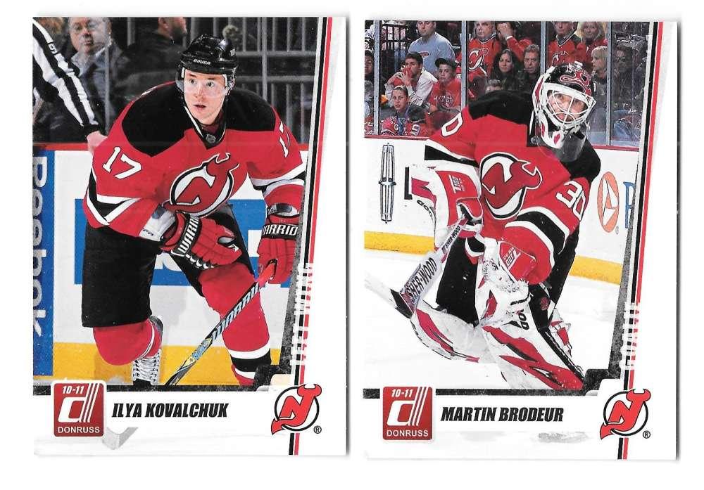 2010-11 Donruss (1-250) Hockey Team Set - New Jersey Devils