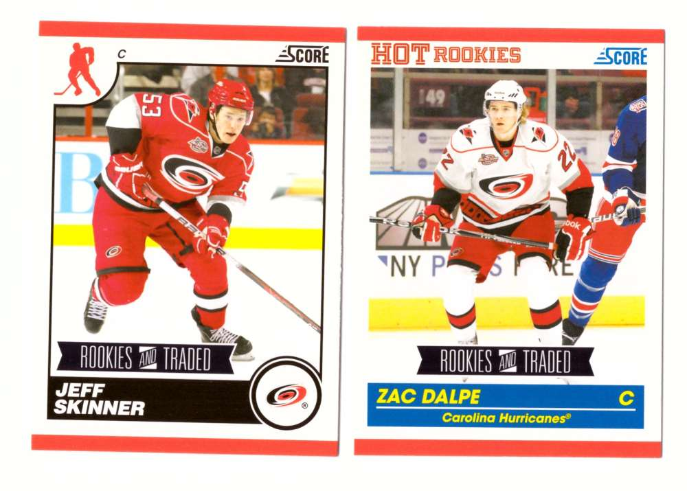 2010-11 Score Rookies and Traded Hockey - Carolina Hurricanes