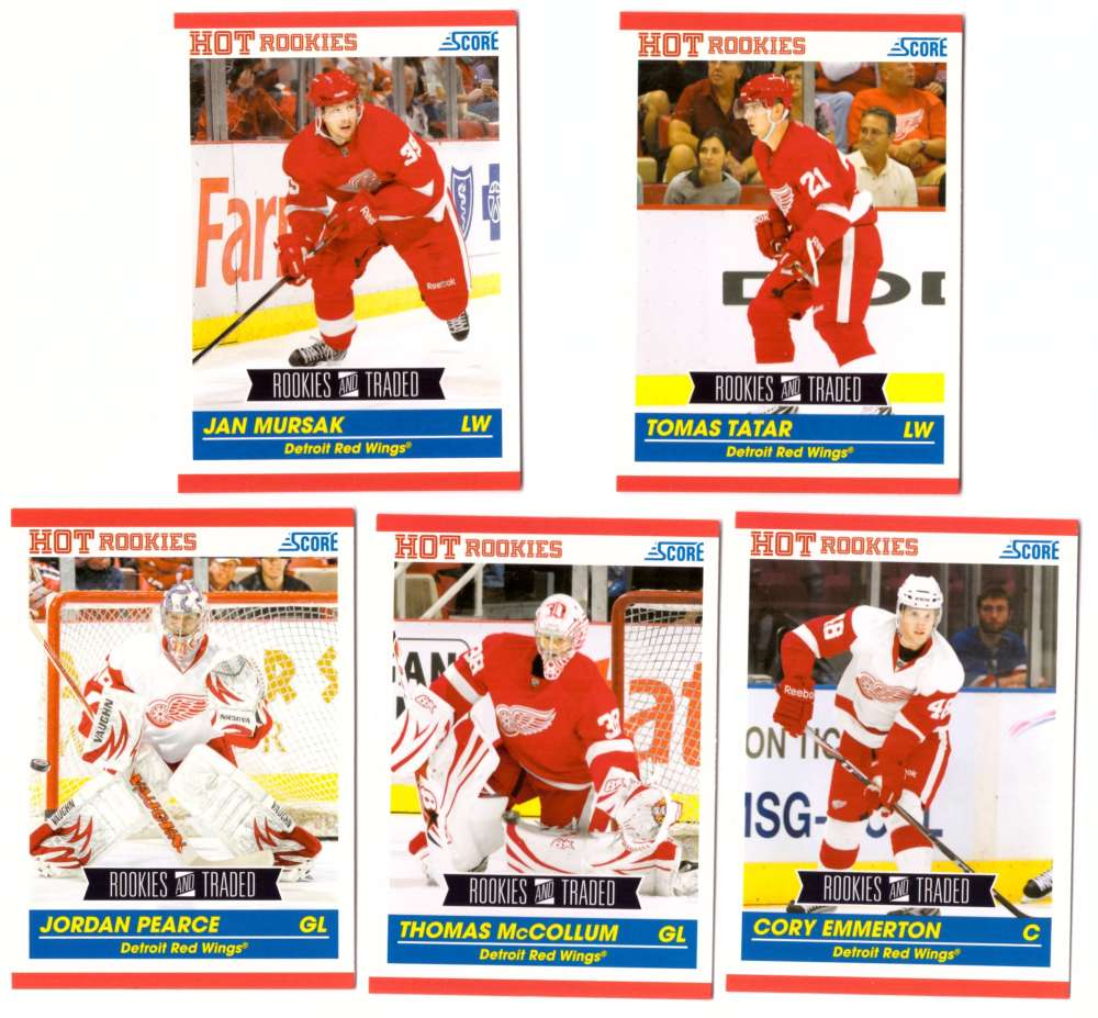 2010-11 Score Rookies and Traded Hockey - Detroit Red Wings