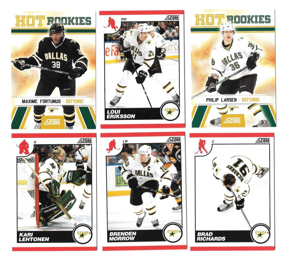 2010-11 Score (1-550) Hockey Team Set - Dallas Stars