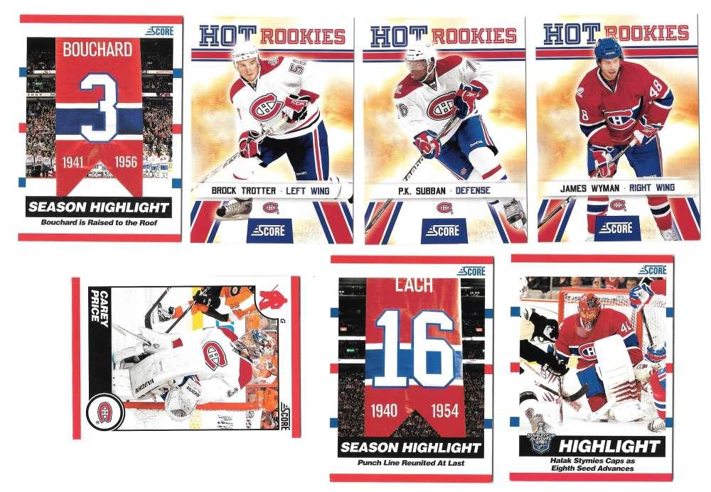 2010-11 Score (1-550) Hockey Team Set - Montreal Canadiens