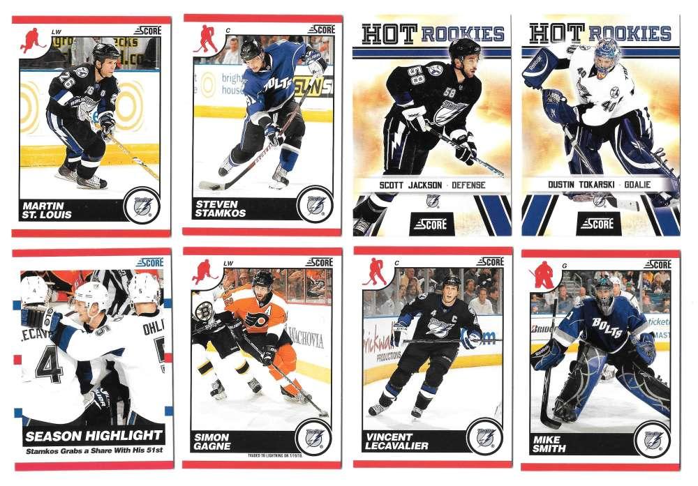 2010-11 Score (1-550) Hockey Team Set - Tampa Bay Lightning