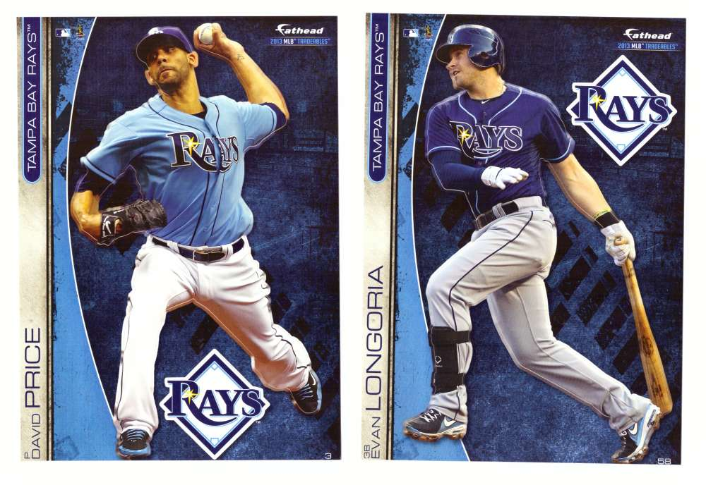 2013 Fathead Tradeables (5x7) - TAMPA BAY RAYS