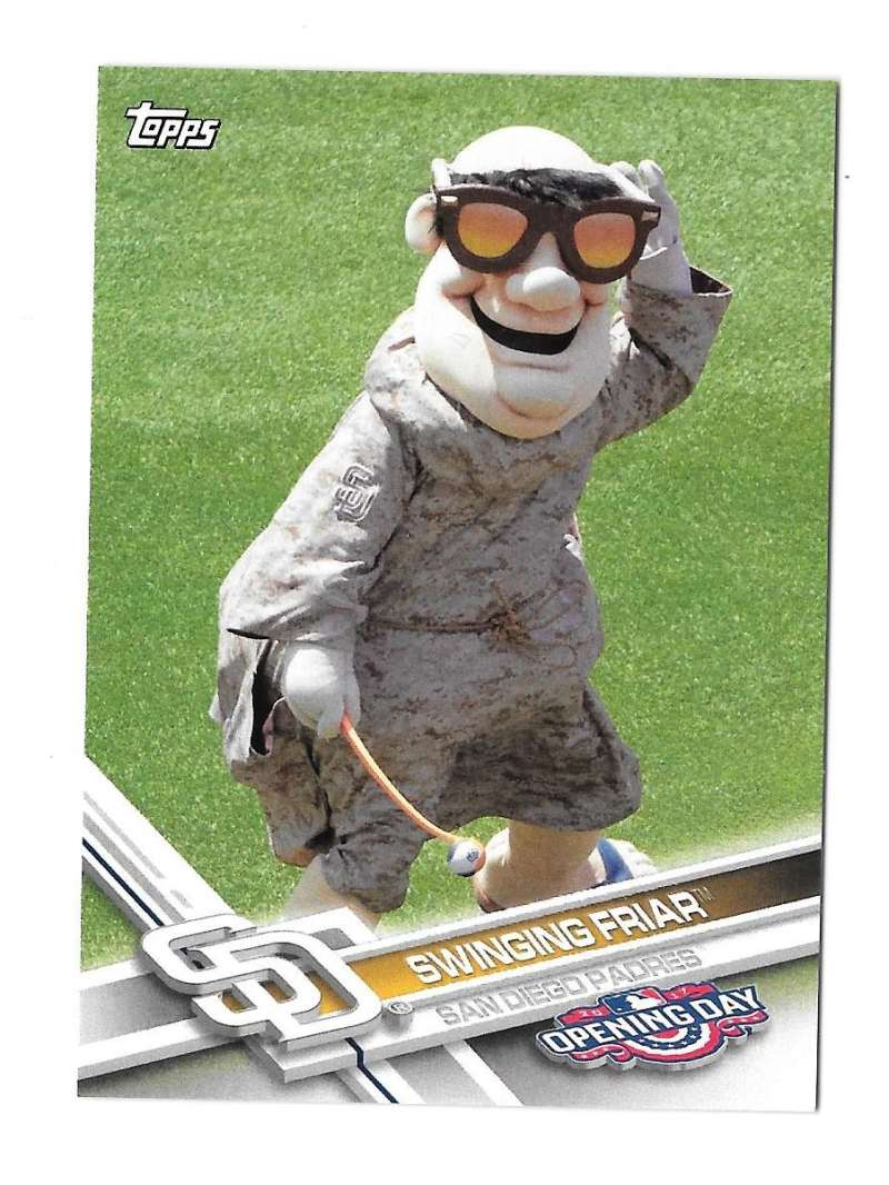 2017 Topps Opening Day Mascots - SAN DIEGO PADRES