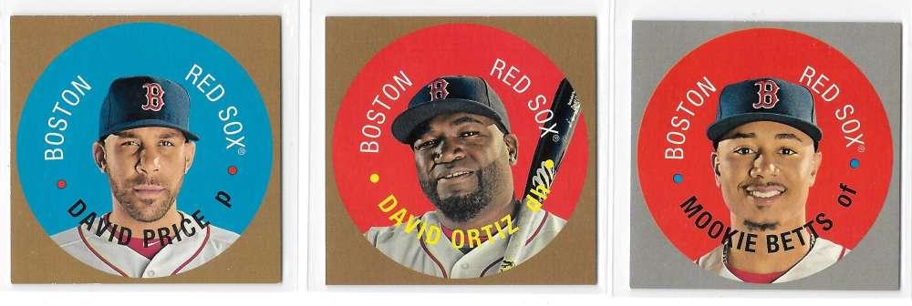 2017 Topps Heritage Discs - BOSTON RED SOX