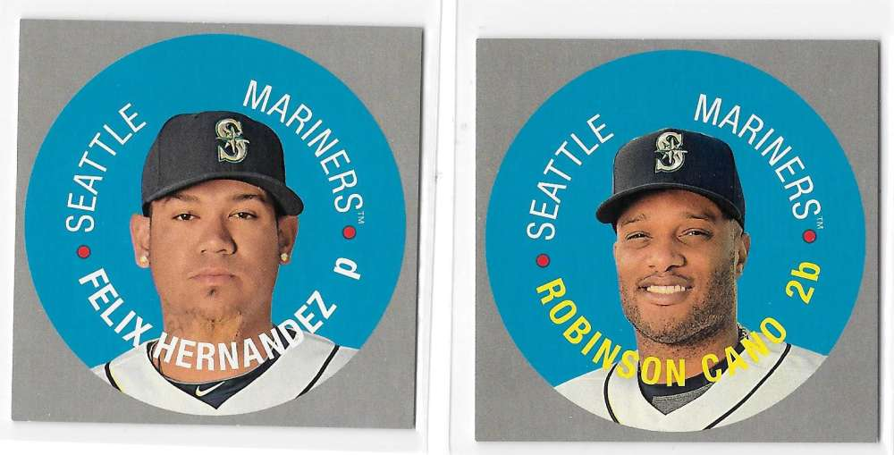 2017 Topps Heritage Discs - SEATTLE MARINERS
