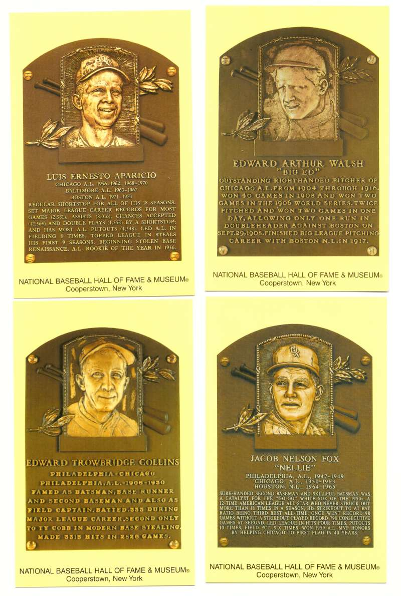 2005 Cooperstown Hall of Fame Plaque Postcards CHICAGO WHITE SOX