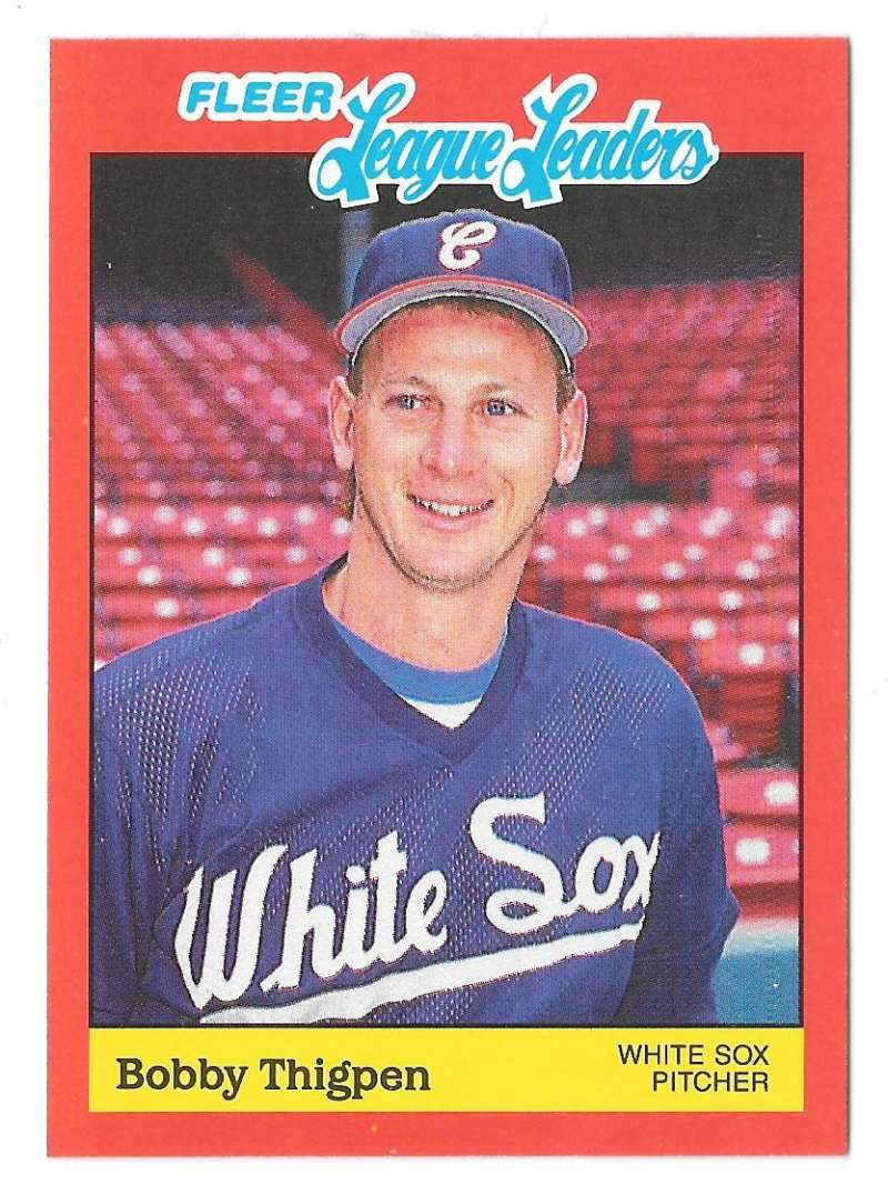 1989 Fleer League Leaders - CHICAGO WHITE SOX