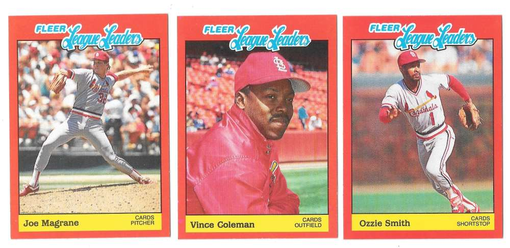 1989 Fleer League Leaders - ST LOUIS CARDINALS