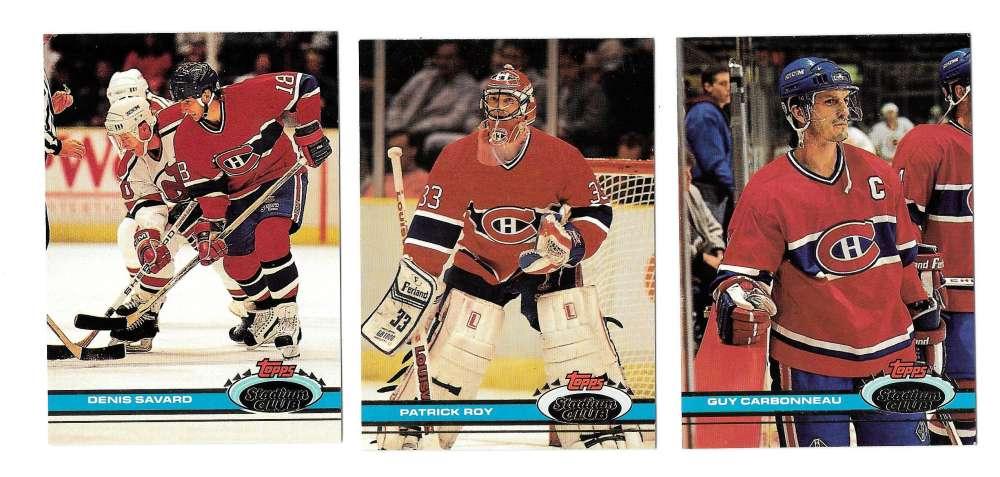 1991-92 Topps Stadium Club Hockey Team Set - Montreal Canadiens
