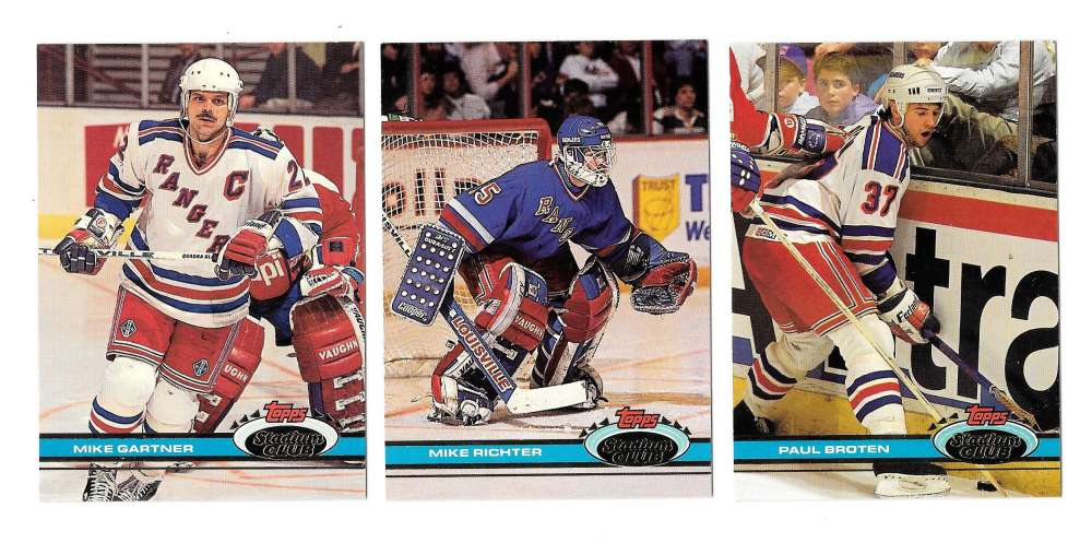 1991-92 Topps Stadium Club Hockey Team Set - New York Rangers