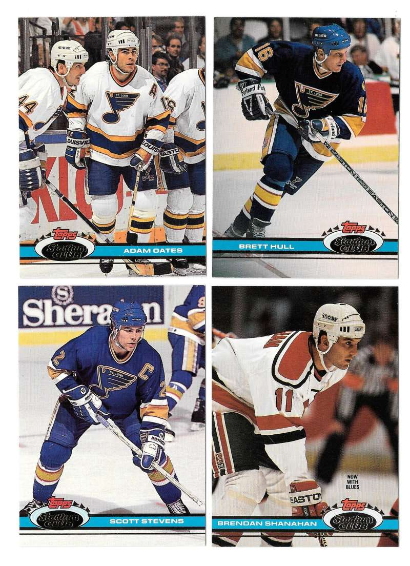 1991-92 Topps Stadium Club Hockey Team Set - St. Louis Blues