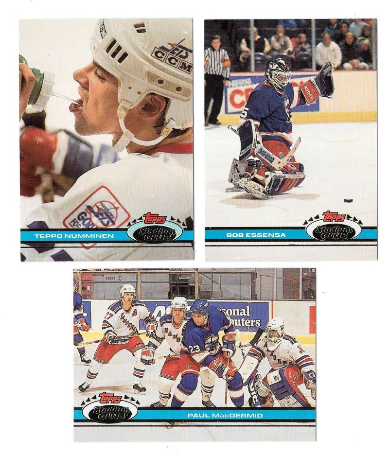 1991-92 Topps Stadium Club Hockey Team Set - Winnipeg Jets