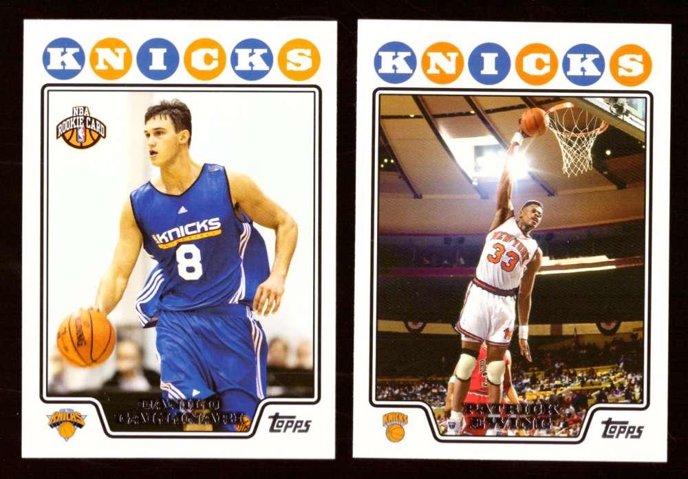 2008-09 Topps Basketball Team Set - New York Knicks