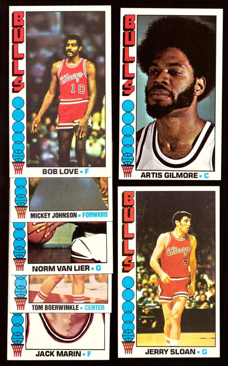1976-77 Topps Basketball Team Set - Chicago Bulls