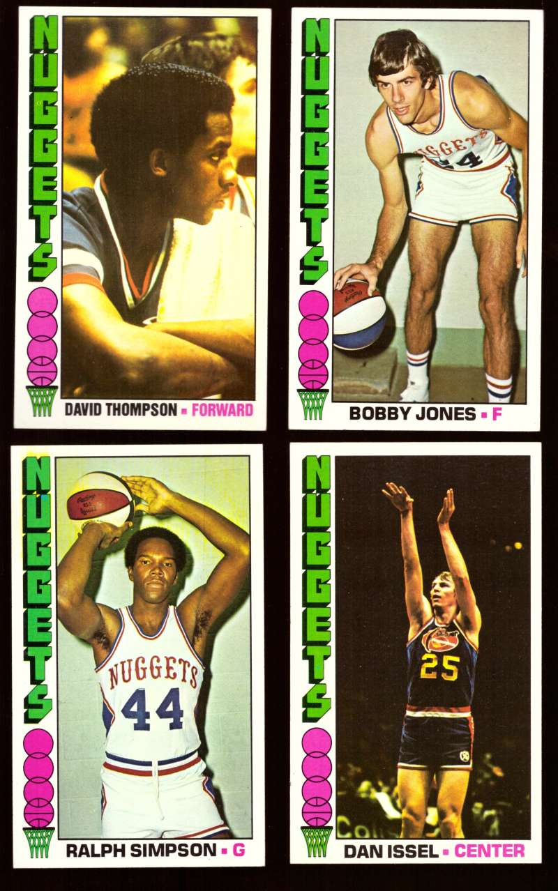 1976-77 Topps Basketball Team Set - Denver Nuggets