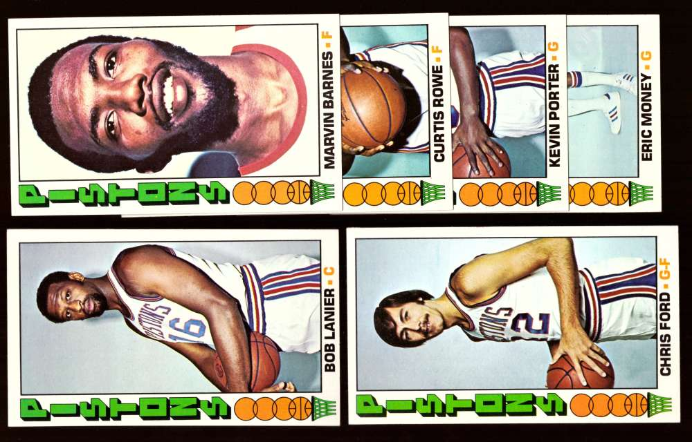 1976-77 Topps Basketball Team Set - Detroit Pistons