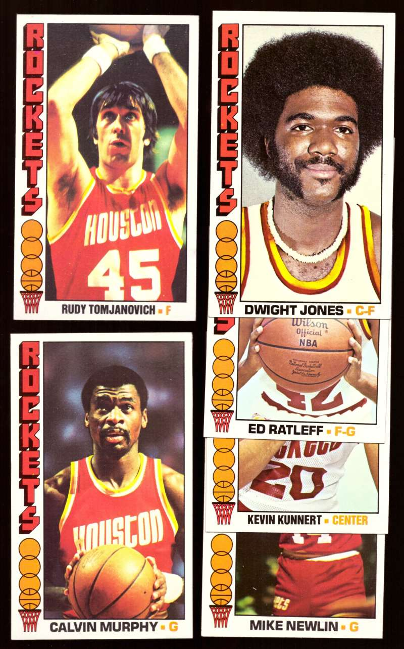 1976-77 Topps Basketball Team Set - Houston Rockets