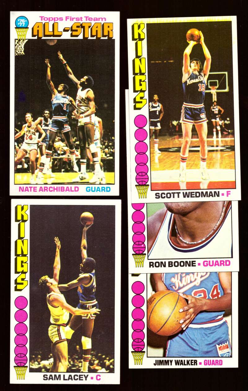 1976-77 Topps Basketball Team Set - Kansas City Kings Missing #20 Archibald