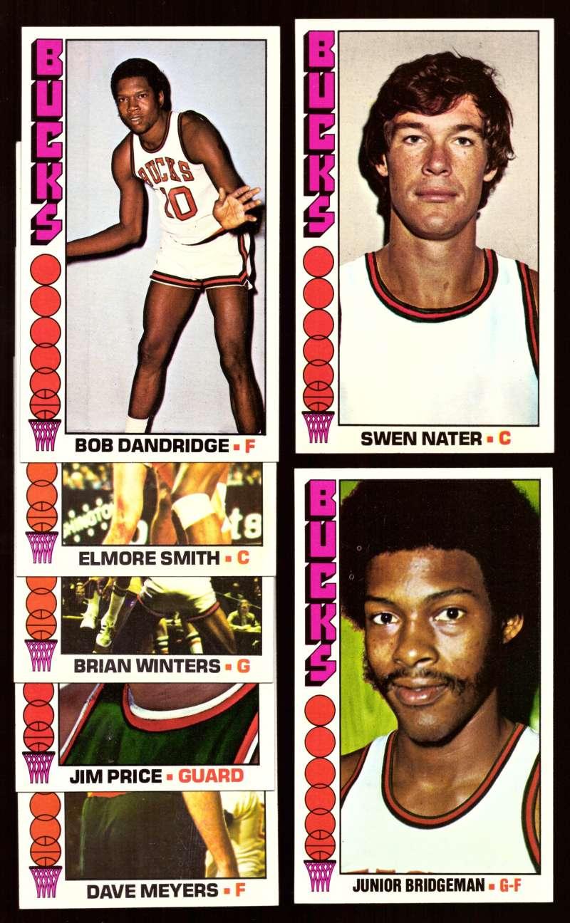 1976-77 Topps Basketball Team Set - Milwaukee Bucks