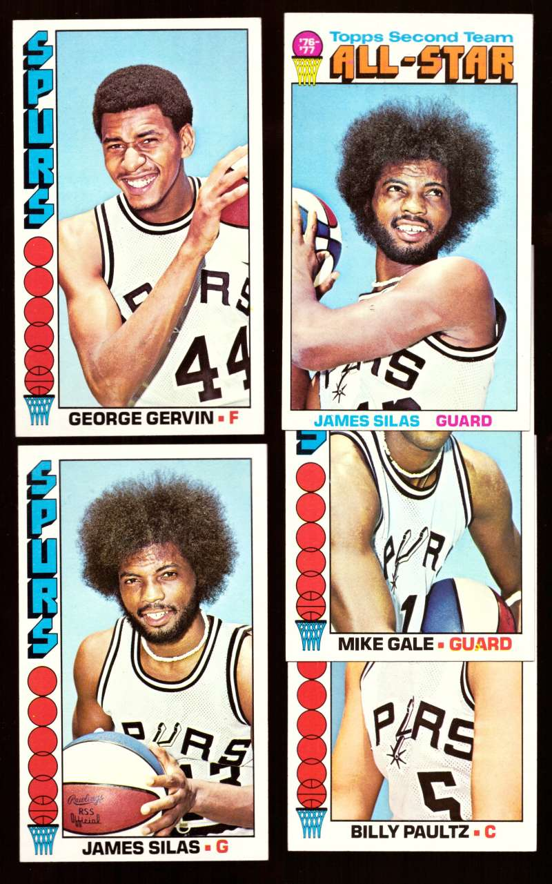1976-77 Topps Basketball Team Set - San Antonio Spurs
