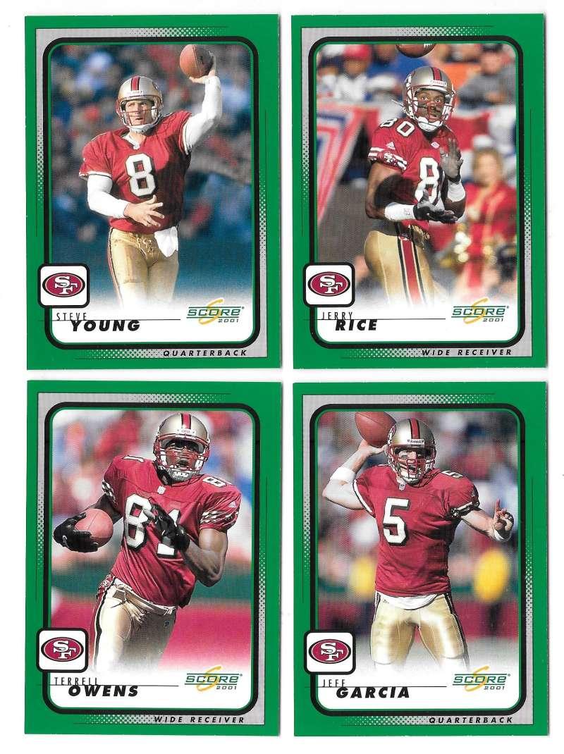 2001 Score Football (Base 1-220) - SAN FRANCISCO 49ERS
