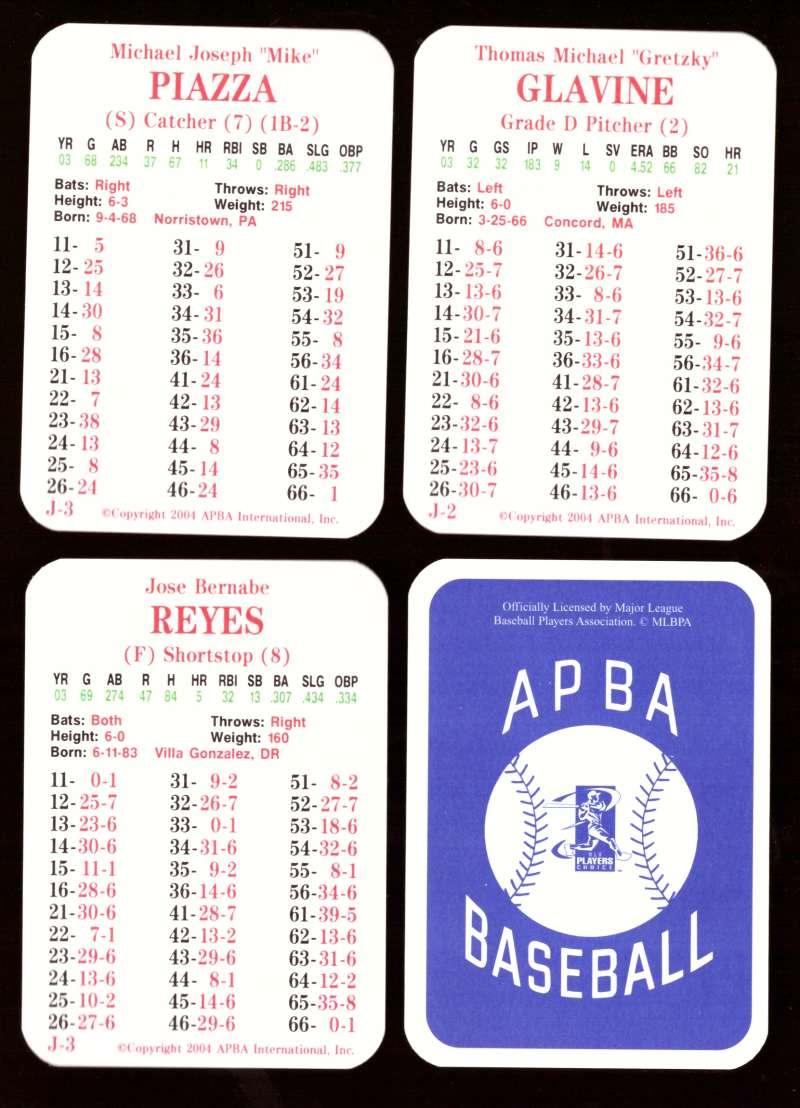 2003 APBA Season w/ XB - NEW YORK METS 30 Card Team Set