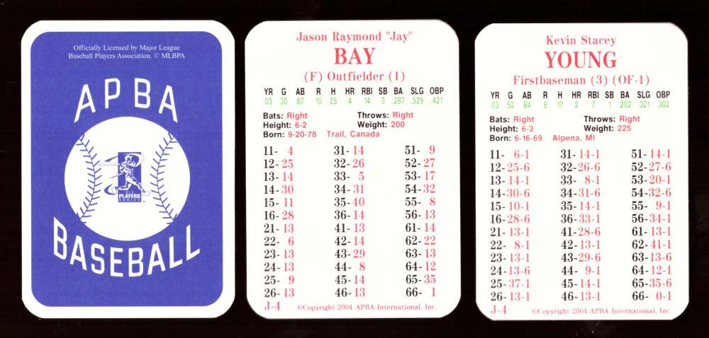 2003 APBA Season w/ XB - PITTSBURGH PIRATES 30 Card Team Set