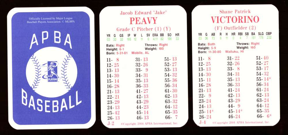 2003 APBA Season w/ XB - SAN DIEGO PADRES 30 Card Team Set