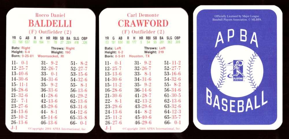 2003 APBA Season w/ XB - TAMPA BAY DEVIL RAYS 30 Card Team Set