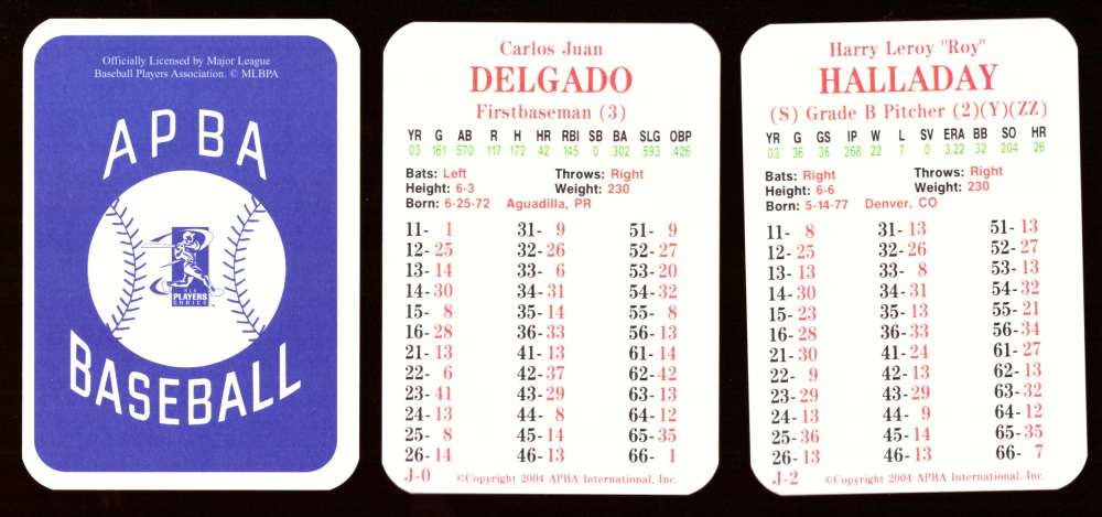 2003 APBA Season w/ XB - TORONTO BLUE JAYS 30 Card Team Set