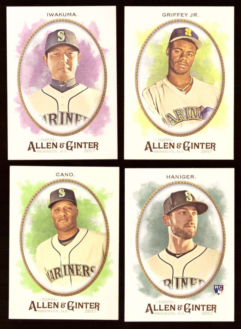 2017 Topps Allen and Ginter (1-350) - SEATTLE MARINERS Team Set