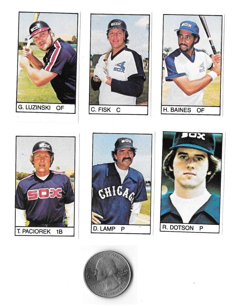 1983 All-Star Game Program Inserts CHICAGO WHITE SOX Team Set
