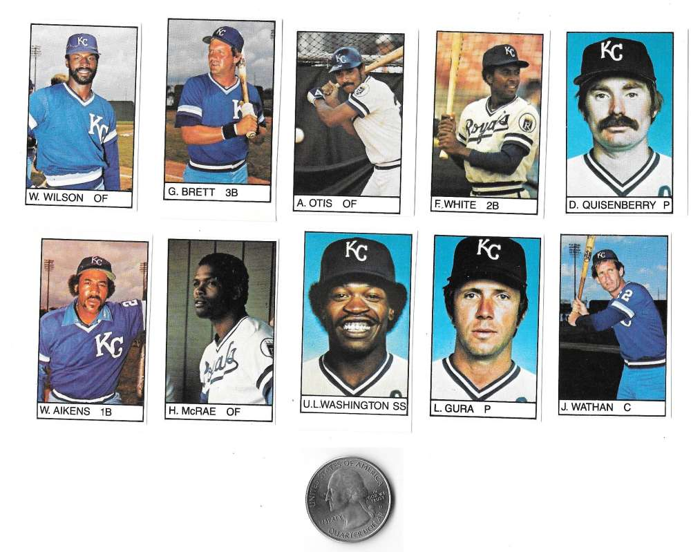 1983 All-Star Game Program Inserts KANSAS CITY ROYALS Team Set