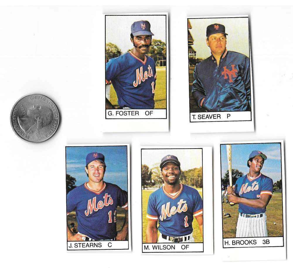 1983 All-Star Game Program Inserts NEW YORK METS Team Set