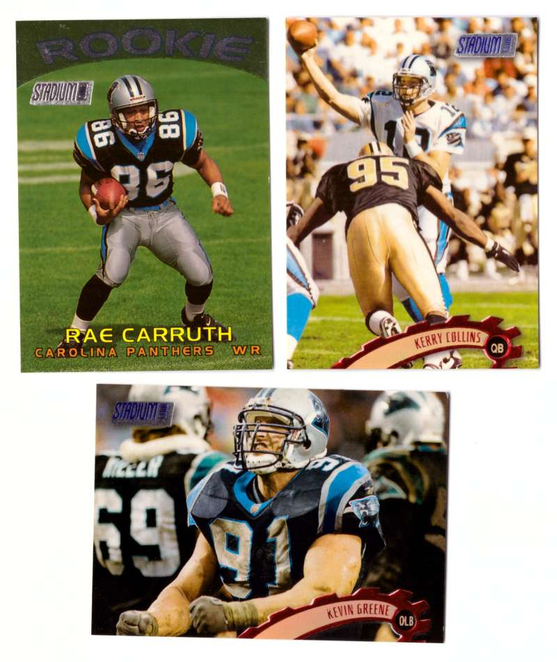 1997 Topps Stadium Club Football Team Set - CAROLINA PANTHERS
