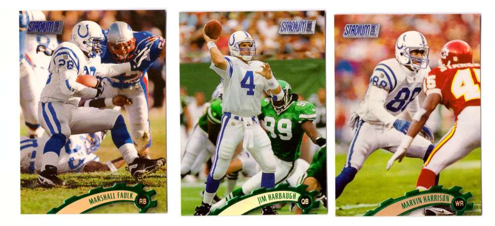 1997 Topps Stadium Club Football Team Set - INDIANAPOLIS COLTS