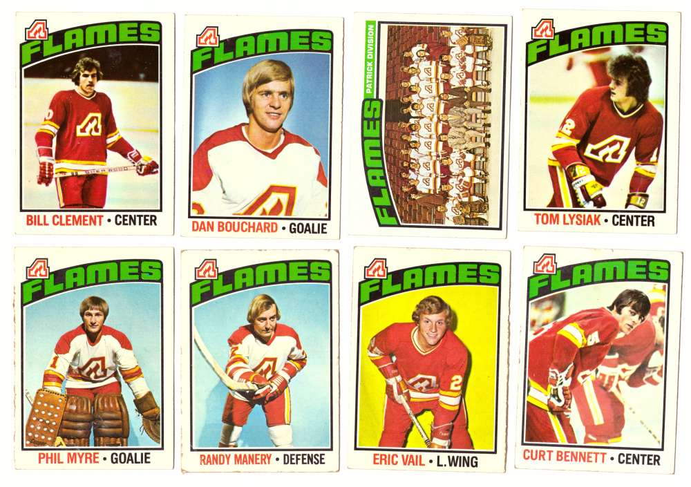 1976-77 Topps Hockey Team Set - Atlanta Flames (Checklist Marked)