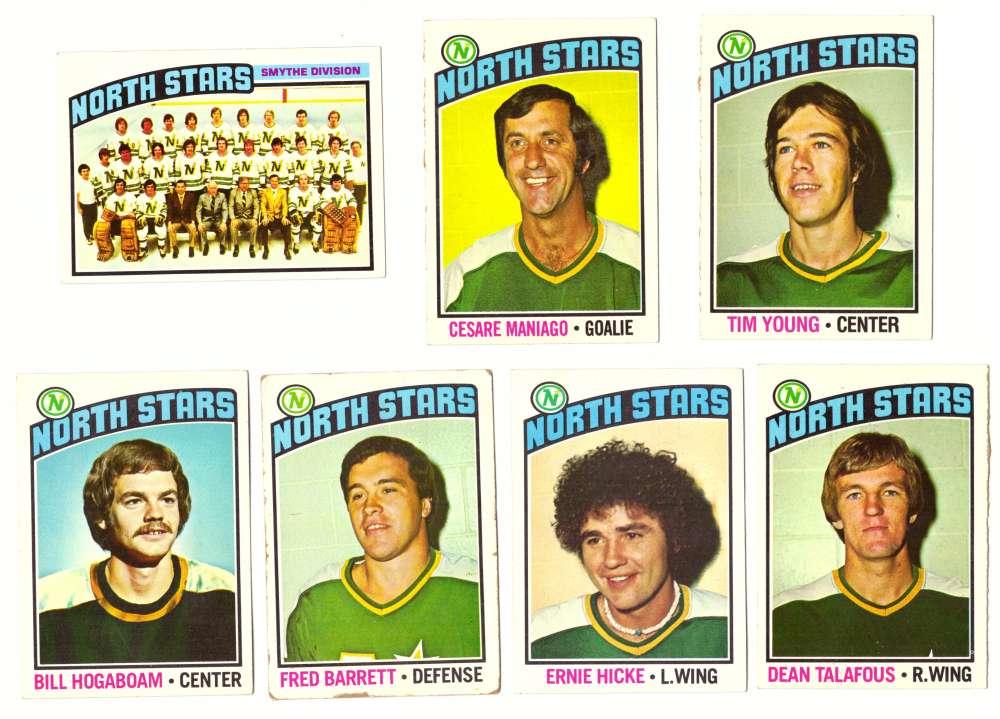 1976-77 Topps Hockey Team Set - Minnesota North Stars ( Checklist marked)