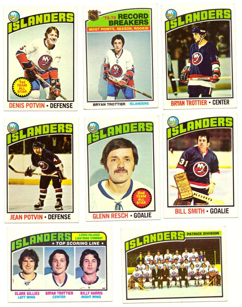 1976-77 Topps Hockey Team Set - New York Islanders
