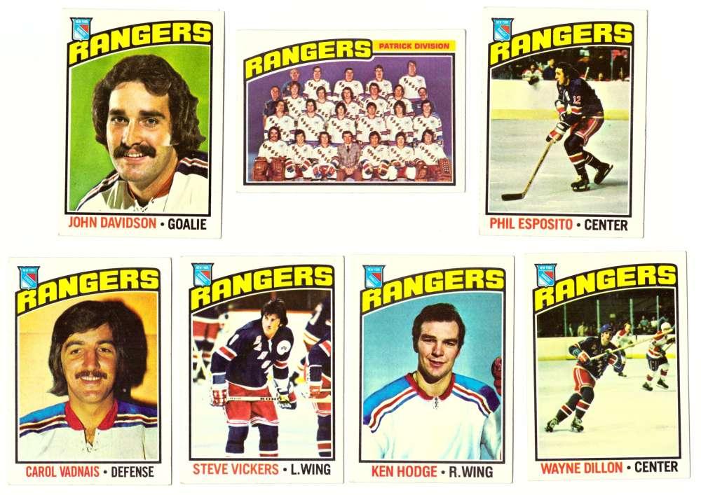 1976-77 Topps Hockey Team Set - New York Rangers