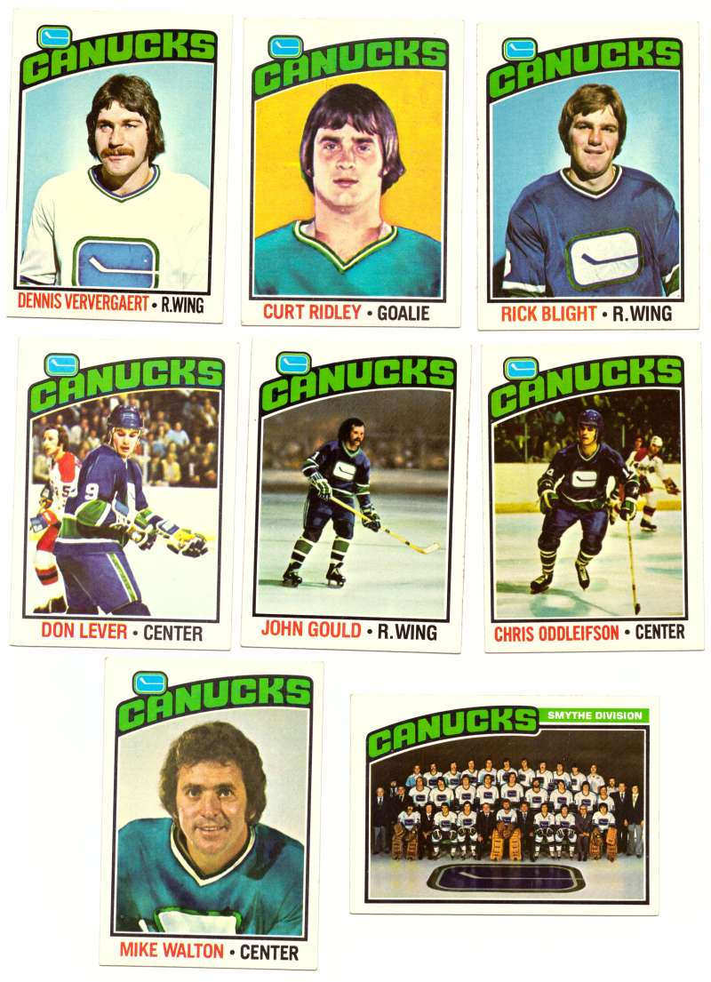 1976-77 Topps Hockey Team Set - Vancouver Canucks