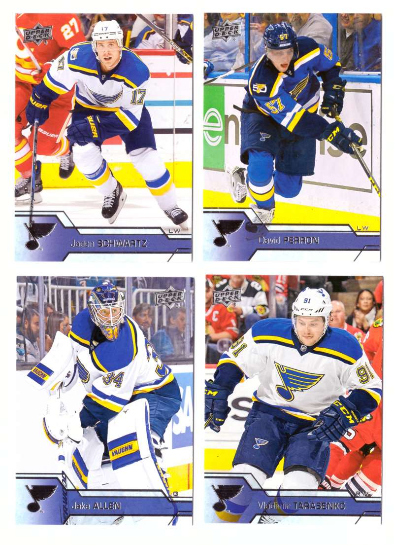 2016-17 Upper Deck (Base) Hockey Team Set - St. Louis Blues