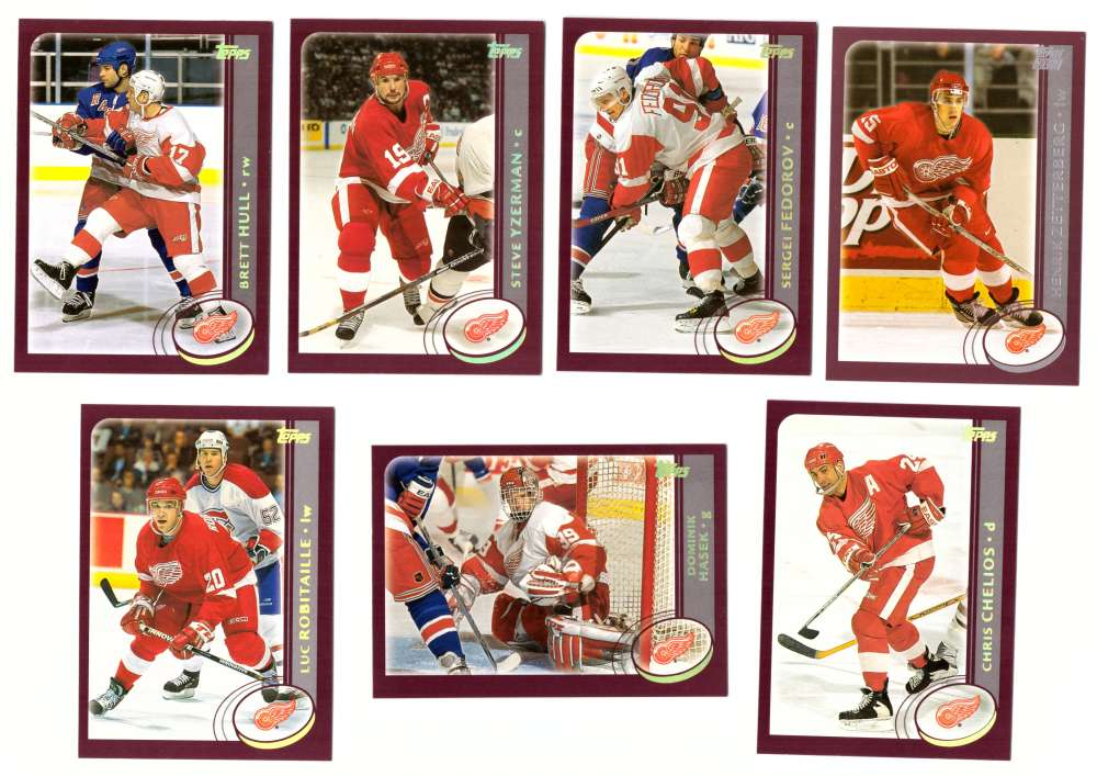 2002-03 Topps Hockey (1-340) Team Set - Detroit Red Wings