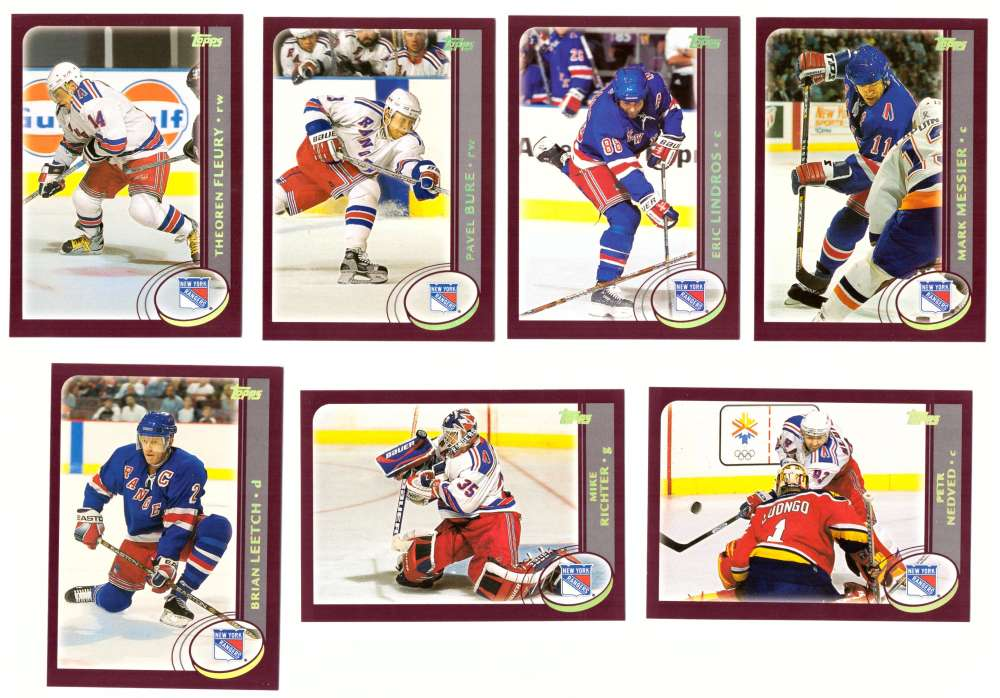 2002-03 Topps Hockey Team Set - New York Rangers